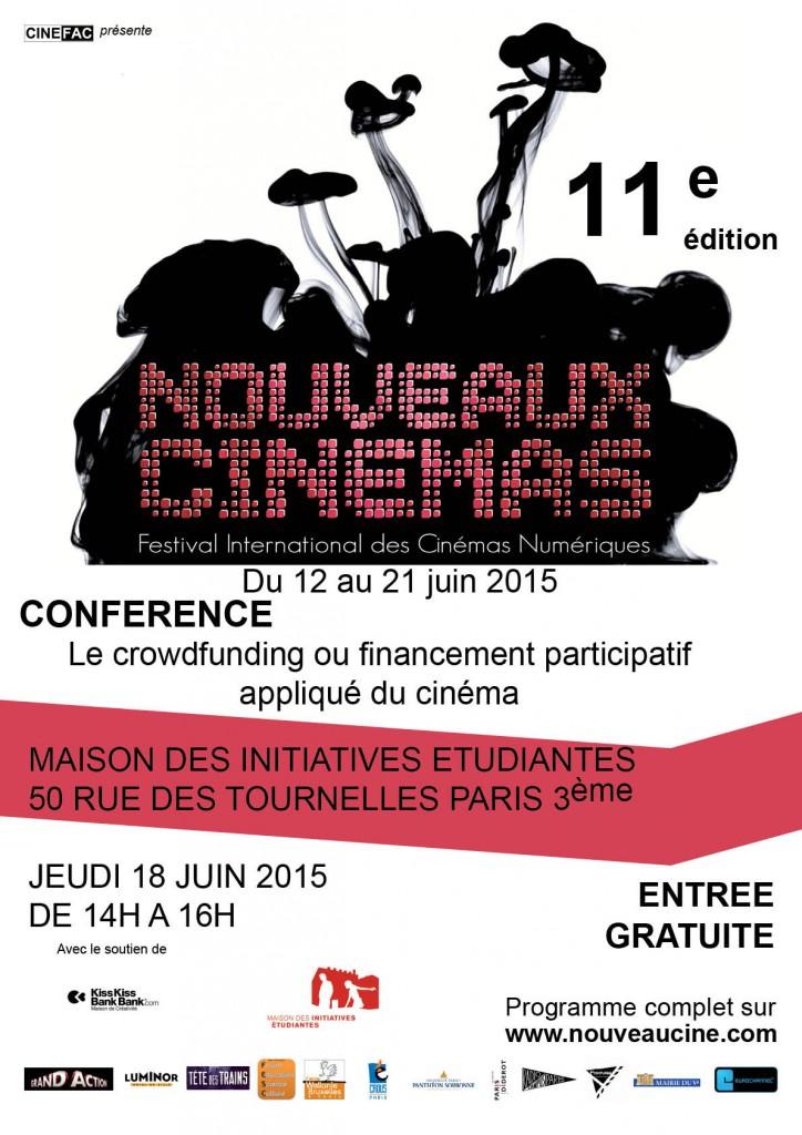 Affiche Conférence sur le Crowdfunding 2015